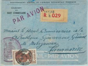 67331 -  Afrique Occidental SENEGAL - Postal History: COVER to MADAGASCAR 1950