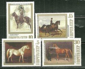 Russia MNH 5694-6,5698 Horses