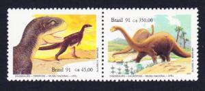 Brazil Dinosaurs 2v pairs SG#2483-2484 SC#2319a CV£70+