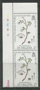 St.Helena - Scott 289 - Centenary Publication -1975 - MNH - Pair of 2p Stamps
