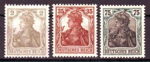 GERMANY Reich 1918 Mi# 102-104 MNH (1002)