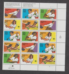 U.S. Scott #2961-2965 Recreational Sports Stamp - Mint NH Plate Block of 15