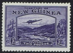 NEW GUINEA 1935 BULOLO AIRMAIL 2 POUNDS EXPERTISED