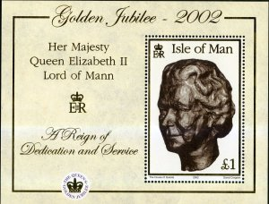 Isle of Man 2002 ,50th Anniv QE II   MNH S/Sheet # 941