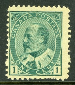 Canada 1903-08 KEVII Admiral 1¢ Green  Scott #89 MNH **G85**