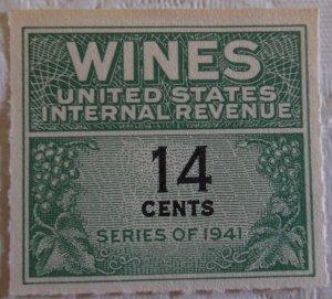United States Wine Tax RE126 MNH Cat $15.00