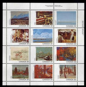 Canada Scott 955-966a MNH**  Canada Day 1982 mini-pane of 12