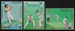 Bangladesh #511-3 MNH Set - World Cup Cricket