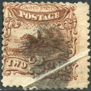 #113 VAR. POST HORSE & RIDER USED WITH PRE-PRINT PAPER FOLD ERROR BN9868