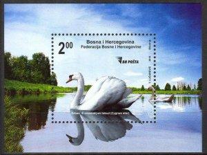 Bosnia 2010 Birds Swans S/S MNH
