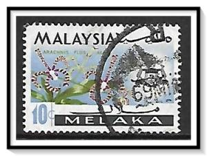 Malacca #71 State Crest & Orchids Used