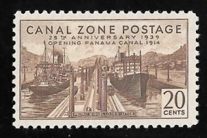 CANAL ZONE 133 20 cents 25th Anniversary Stamp Mint OG NH VF