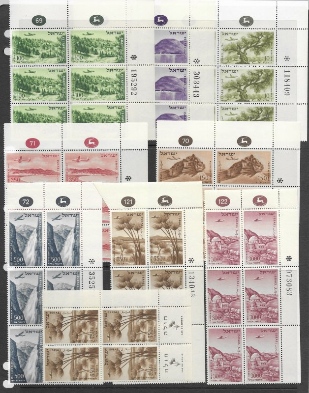Israel C9-16,17 MNH in corner blocks of 6,  vf see desc. 2019 CV$12.30