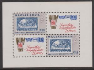 Hungary 1965 WIPA Miniature Sheet Mint