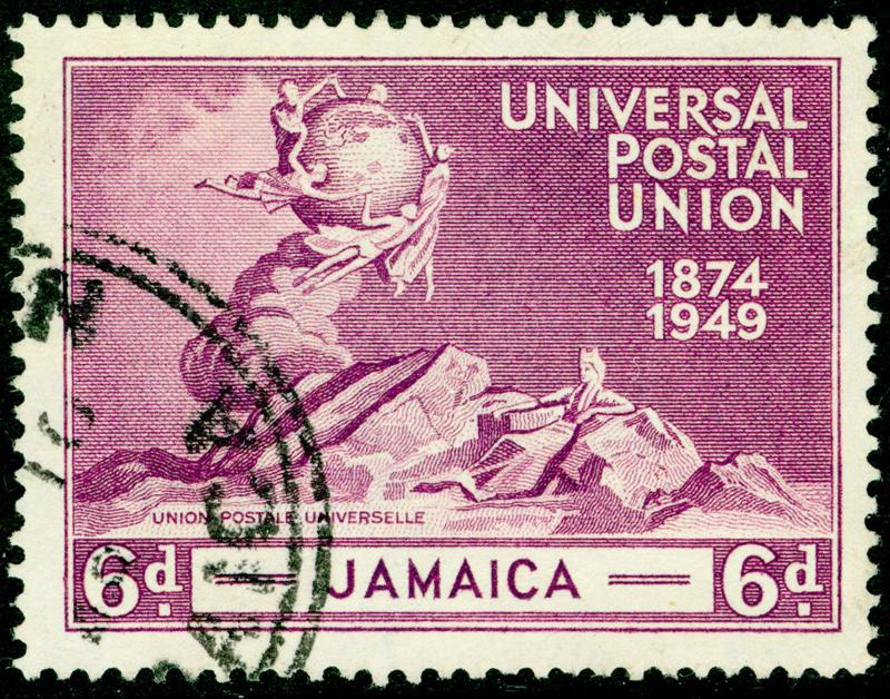JAMAICA SG148, 6d purple, FINE USED.