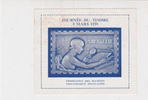 French Philatelic Society Mint Never Hinged Stamp Sheet Ref 35164