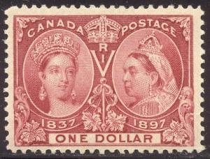 CANADA #61 CHOICE Mint - 1897 $1 Jubilee