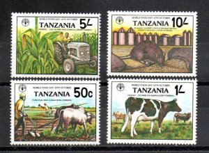 Tanzania MNH 209-12 World Food Day Cattle SCV 3.15