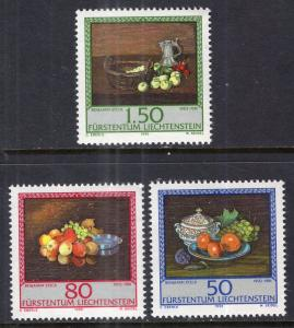 Liechtenstein 942-944 Fruit Paintings MNH VF