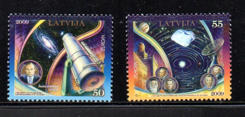 Latvia Sc 732-3 2009 Europa stamp set mint NH