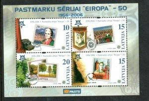 2006    LATVIA  -  SG.  MS658  -  EUROPA STAMP ANNIVERSARY -  MNH