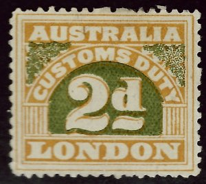 Australia Customs Duty 2d Mint VF...Grab a Bargain!