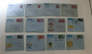Great Britain Postal Stationary Airmail Letter sheet aerogram Lot 12 used FDC