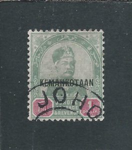 JOHORE 1896 $1 GREEN & CARMINE FU SG 38 CAT £140