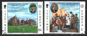 Isle Of Man. 1980. 164-65. Thomas Brown, poet, teacher, scientist, europe-sep...