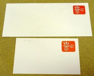 U581, 15c U.S. Postage Envelope qty 2