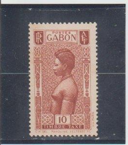 Gabon  Scott#  J24  MH  (1932 Fang Woman)