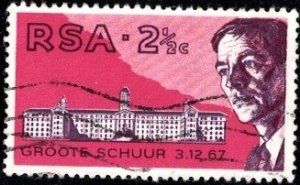 Dr. Barnard, Groote Schuur Hospital, 1st Heart Transplant, RSA SC#355 used