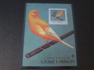St. Thomas & Prince Islands 2003 Sc 1504 Bird set MNH