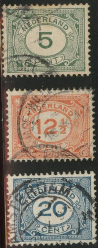 Netherlands Scott 107-110 used 1922 set