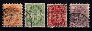 Denmark 1895-1902 Christian IX Definitives Part Set [Used]