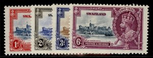 SWAZILAND GV SG21-24, SILVER JUBILEE set, LH MINT.