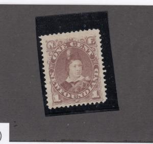 NEWFOUNDLAND # 41 VF-MNG 1ct PRINCE OF WALES CAT VALUE $90 FRESH COLOUR