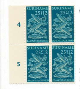 Suriname, B185, Fish in Net Semi-Postal Blocks (4), MNH