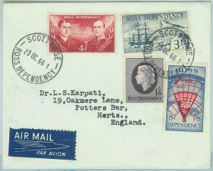 67350 - ROSS DEPENDENCY - Postal History -  COVER to ENGLAND 1966 - POLAR