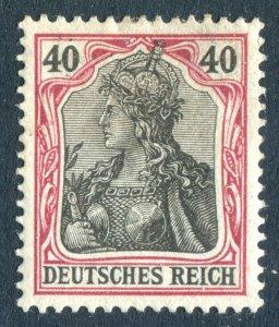 Germany 1902. 40pf black & carmine. No wmk. Mint. LH. Deutsches Reich.