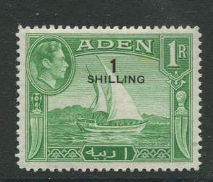 STAMP STATION PERTH Aden #43 - KGVI Definitive Overprint 1951 MLH CV$0.30.