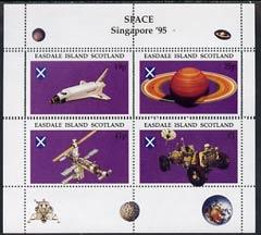 Easdale 1995 'Singapore 95' Stamp Exhibition (Space Explo...