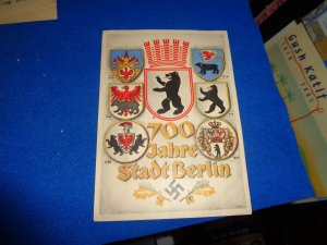 WWII ERA GERMANY PROPAGANDA POST CARD, 700 JAHRE STADT BERLIN