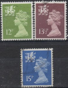 0722) G.B.- Wales. 1980. Used. Small Collection of Machins.
