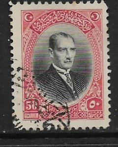 TURKEY, 645, USED, MUSTAFA KEMAL PASHA