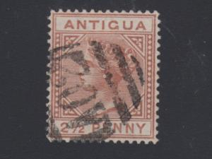 Antigua Sc 9a used. 1897 2½p red brown, Large 2 with Slanted Foot. Cert.