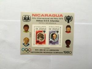1980 NICARAGUA OLYMPICS, MNH** Sheet, Children Aid.imperf.