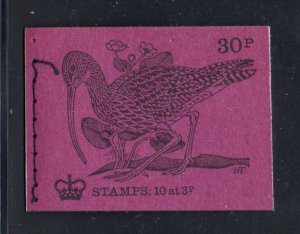Great Britain Sc BK134 1971-2 MH36b stamp booklet mint NH