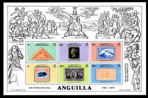 Anguilla 354a Stamp on Stamp Souvenir Sheet MNH VF