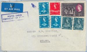 59503 -   British KUT  KENYA - POSTAL HISTORY:  COVER to ITALY 1964  MARINE LIFE